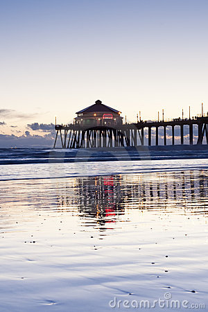 Huntington Beach Pier Reflections