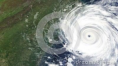 Huracán que golpea la costa este de los E.E.U.U.