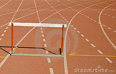 Hurdle race track