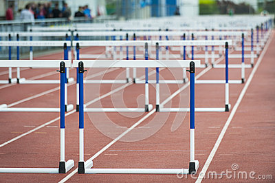 Hurdle on the track