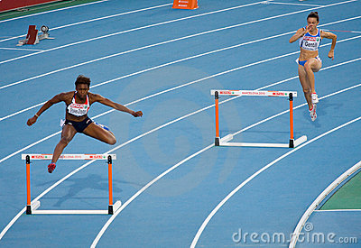 Hurdles women Editorial Photo