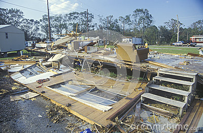 Hurricane Andrew Editorial Stock Photo