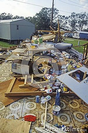 Hurricane Andrew damage Editorial Stock Photo