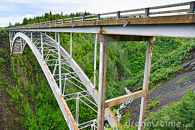 Hurricane Gulch bridge on George Parks Hwy, Alaska