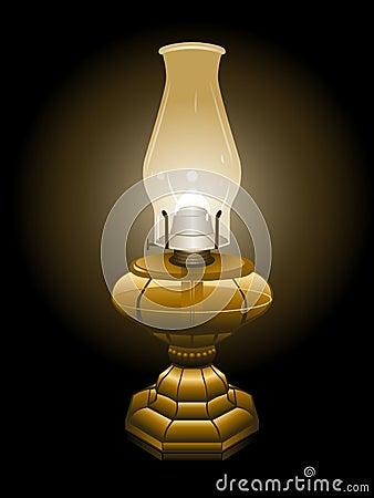 Hurricane lamp illustration