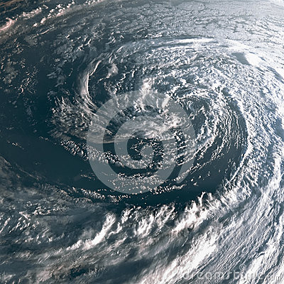 Free Hurricane On Earth Viewed From Space. Typhoon Over Planet Earth. Royalty Free Stock Image - 96999546