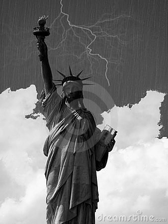 Hurricane over New York Editorial Photo