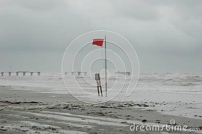 Hurricane Pounding Coast