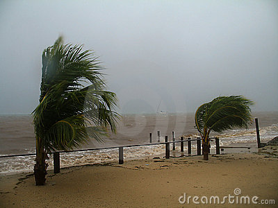 Hurricane Richard - Roatan, Honduras Editorial Stock Photo
