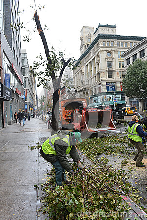 Hurricane Sandy Editorial Stock Photo