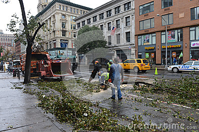Hurricane Sandy Editorial Photo