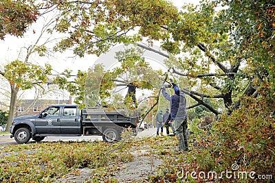 Hurricane Sandy Editorial Image