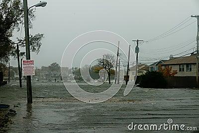 Hurricane Sandy Floods Bronx Homes Editorial Image