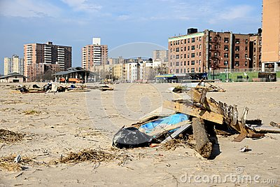 Hurricane Sandy s Aftermath Editorial Stock Photo