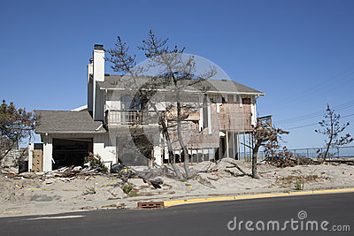 Hurricane Sandy - 1 Year Later Loch Arbour Editorial Stock Photo