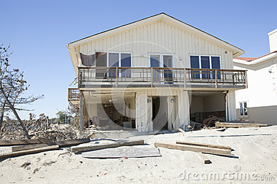 Hurricane Sandy - 1 Year Later Loch Arbour Editorial Photography