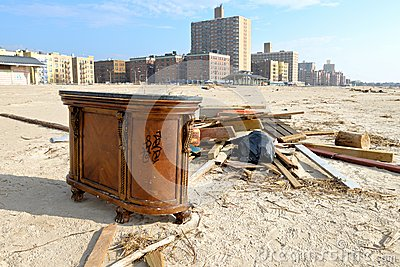 Hurricane Sandys Aftermath Editorial Stock Photo