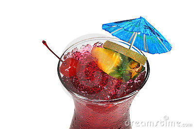 Hurricane Tropical Drink, Isolated