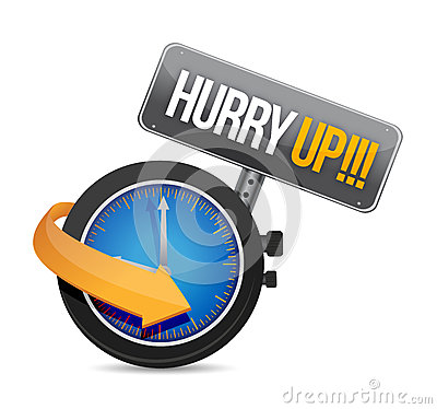 Free Hurry Up Watch Message Illustration Stock Photos - 33412423