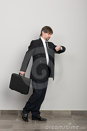 Hurrying businessman