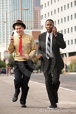 Hurrying Businessmen