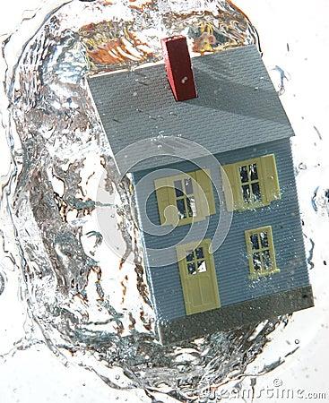 Hus 3 under vatten