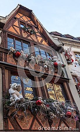 Hus i Strasbourg Redaktionell Bild
