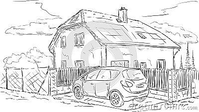 Hus och bil