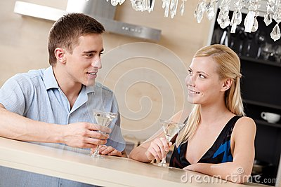Husband and wife have dating dinner