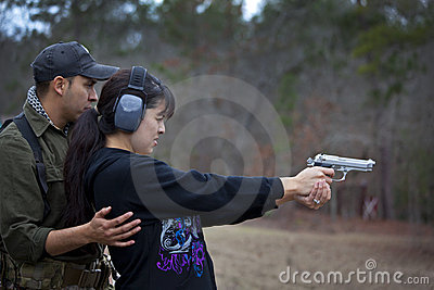Husband and Wife Shooting Lesson