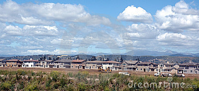 Häuser, die aufgebaut werden
