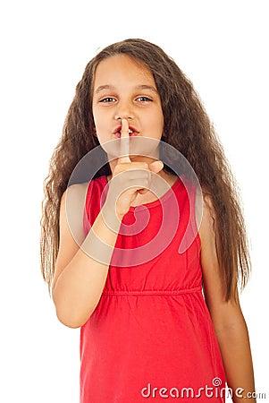 Free Hush!Be Quiet! Royalty Free Stock Photo - 19970955