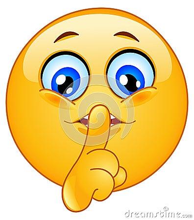 Free Hush Emoticon Stock Image - 15882081