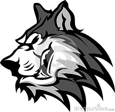 Husky Mascot Graphic
