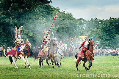 Hussars Charge Editorial Stock Photo