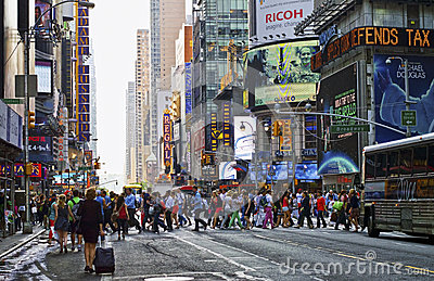 Hustle Bustle Manhattan Editorial Image