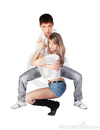 Hustle dancers
