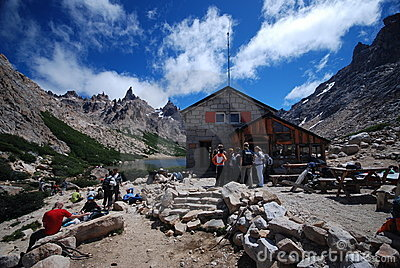 Hut in the Argentine mountains Editorial Photography