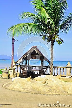 A hut by the beach