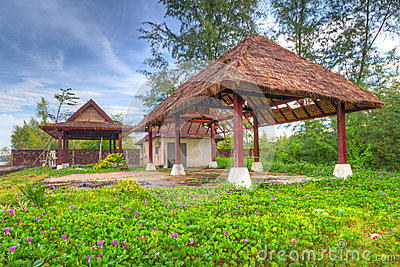 Hut at the beach in Thailand