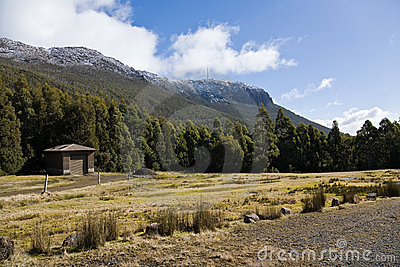Hut below Mount Wellington, Tasmania