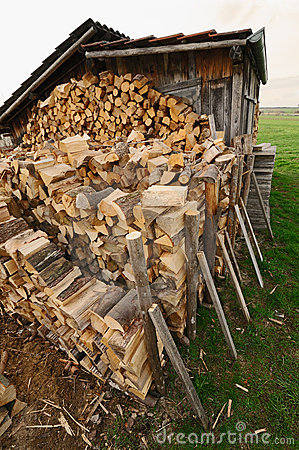 Hut and firewood