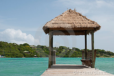 Hut on jetty
