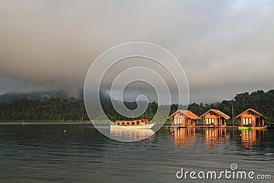 The Hut in Lake Khao Sok national park.