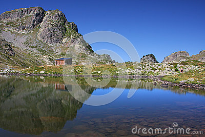 Hut and reflection