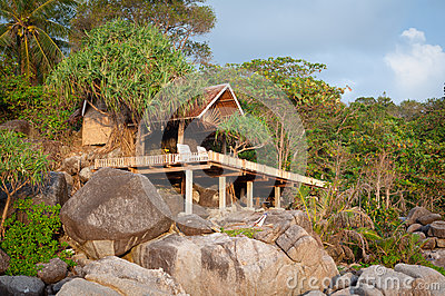 Hut on the rock