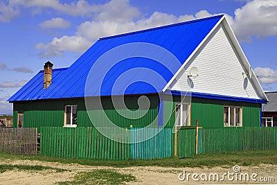Hut in a Siberian settlement