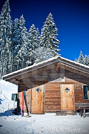 Hut in a Ski Area