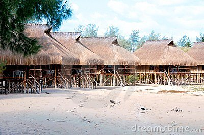 Huts in mozambique