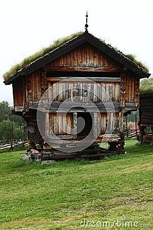 Hutten in Europa dorp